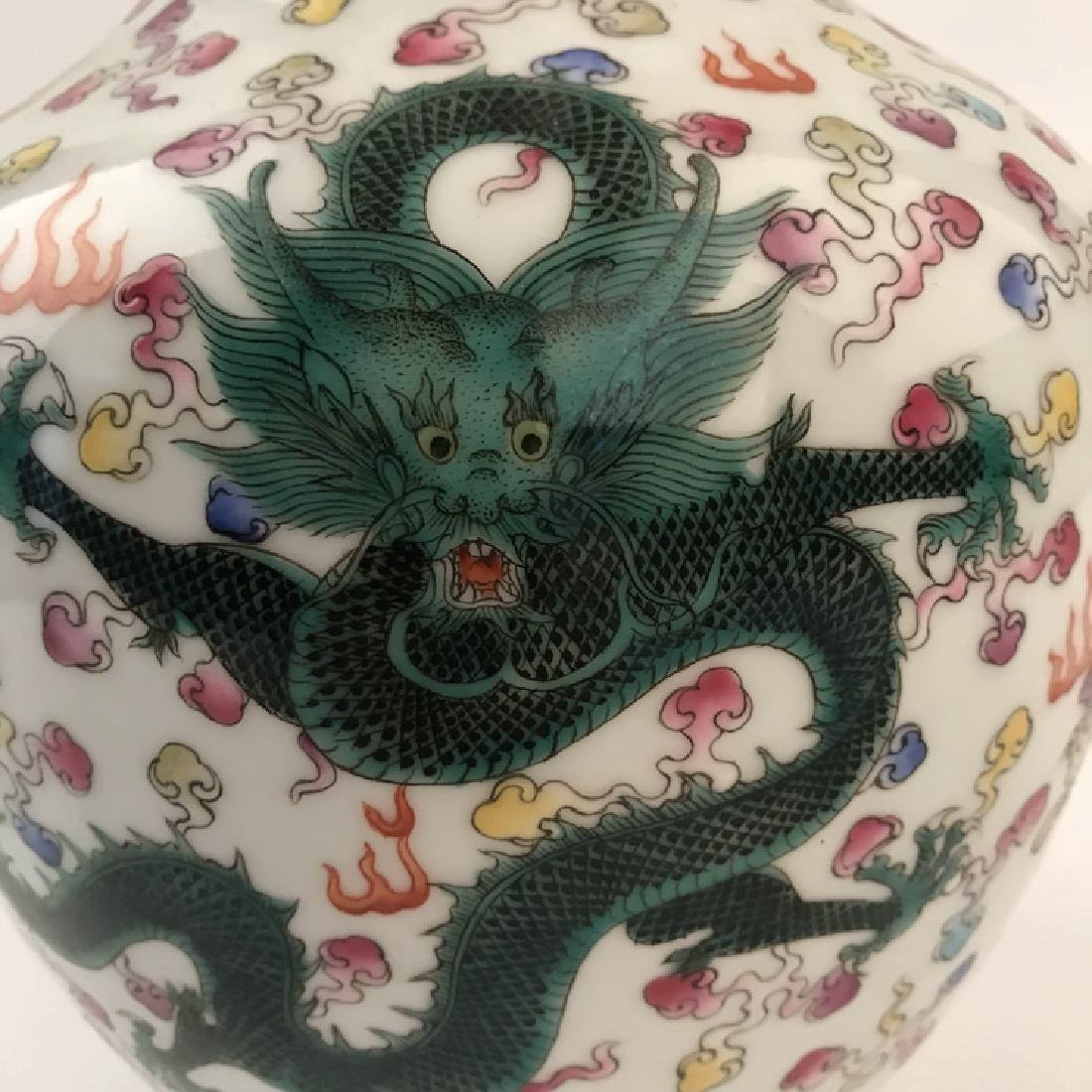 Chinese Famille Rose Dragon Vase - 7