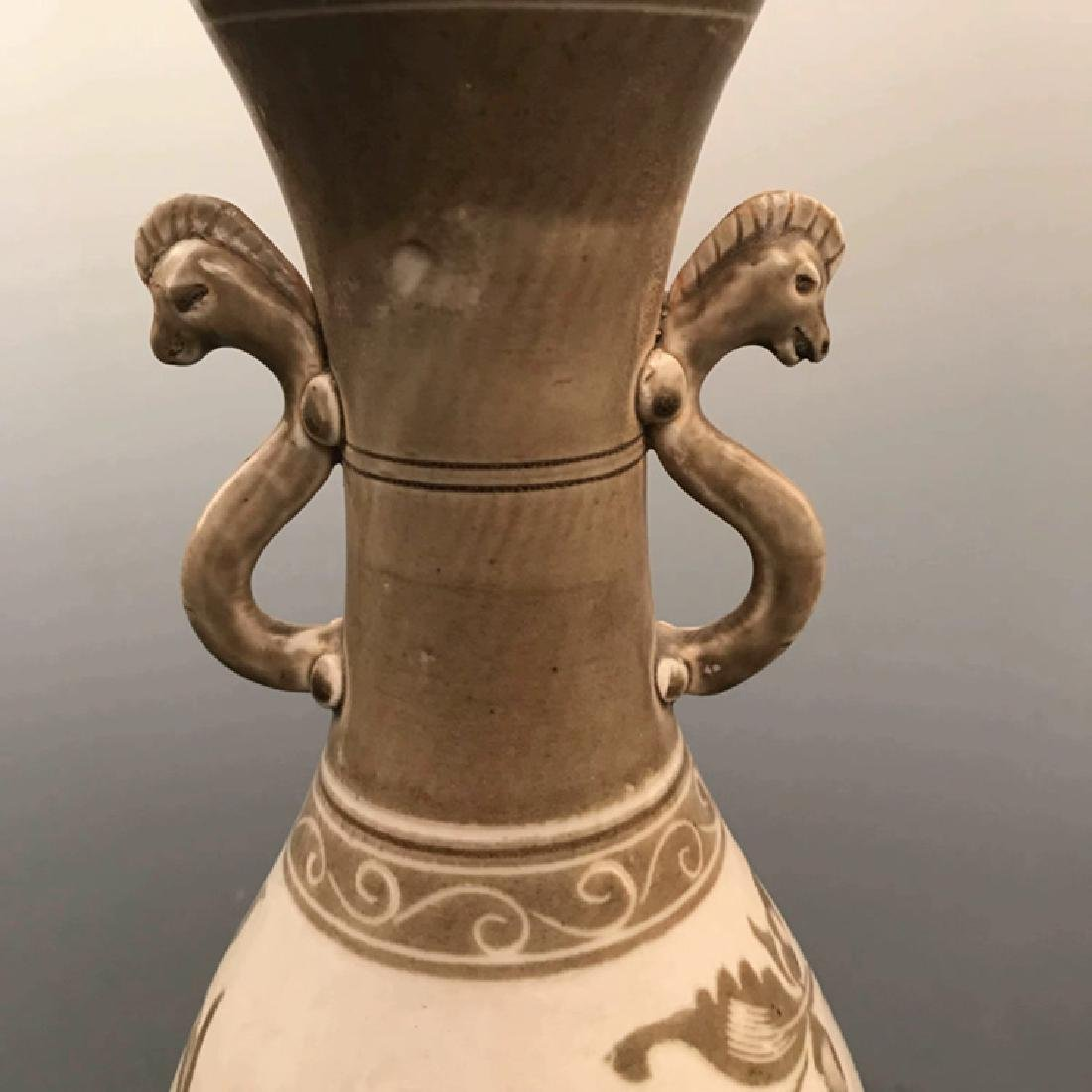 Chinese Ding Yao Brown Vase - 2