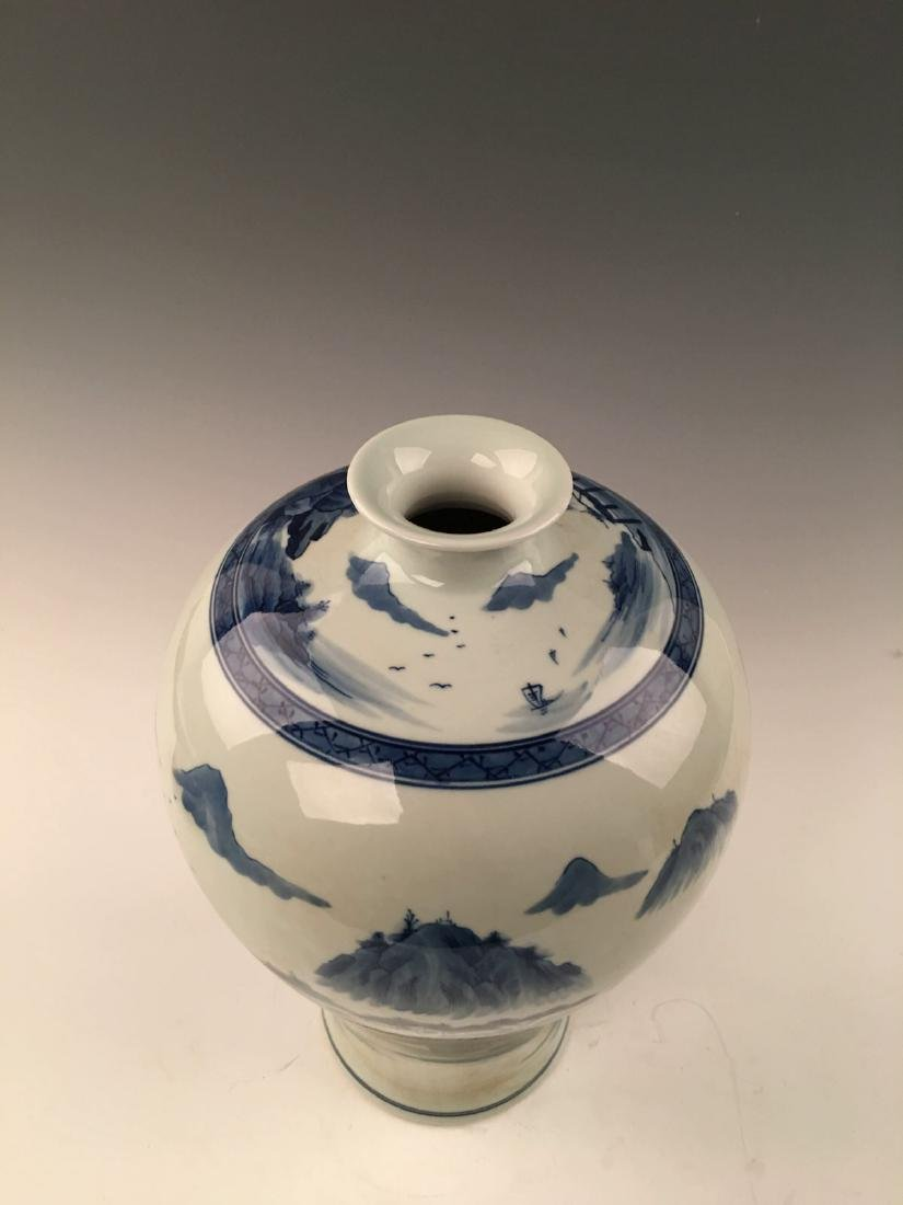 Chinese Blue&White Landscape Meiping Vase With Kangxi - 3