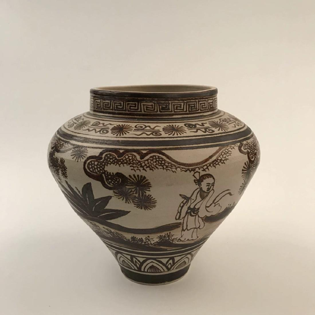 Chinese Brown Glazed Jar - 4