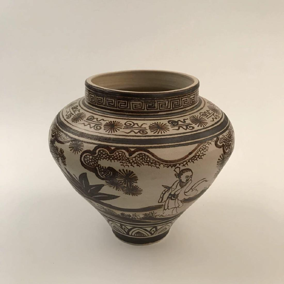 Chinese Brown Glazed Jar - 5