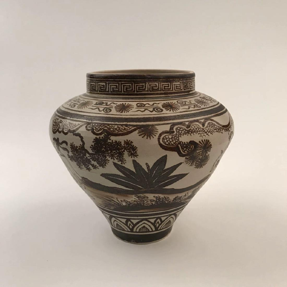 Chinese Brown Glazed Jar - 6
