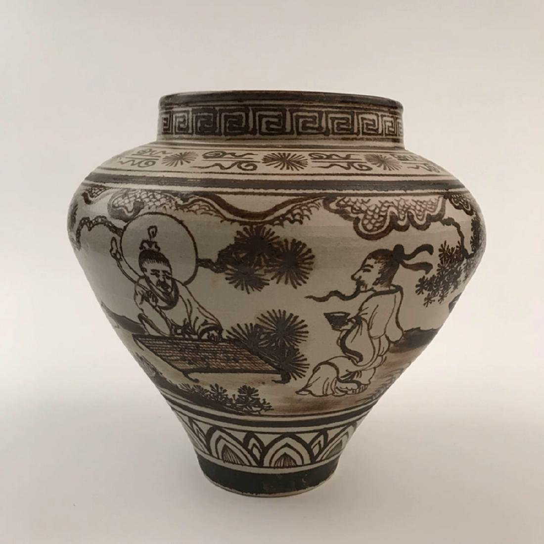 Chinese Brown Glazed Jar - 8