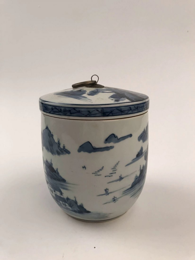 Chinese Blue and White Jar with Cover - 3
