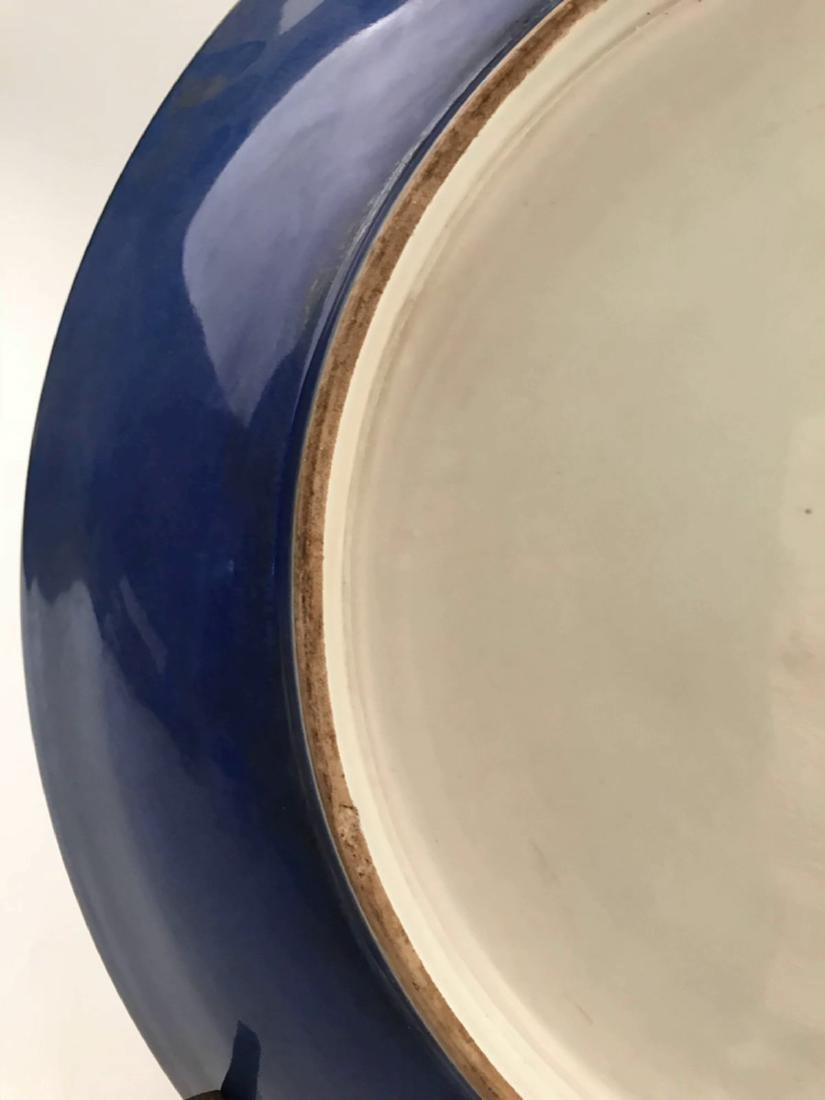 Chinese Blue and Red Porcelain Charger With Kangxi Mark - 10