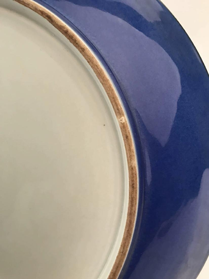 Chinese Blue and Red Porcelain Charger With Kangxi Mark - 9