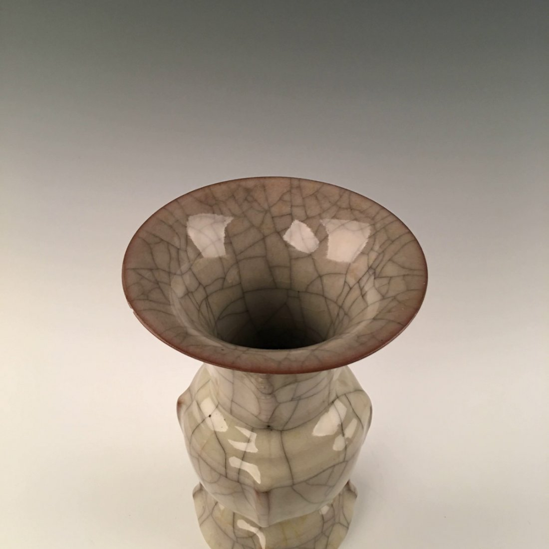 Chinese Guan-Ware Porcelain Gu-Shaped Vase - 2