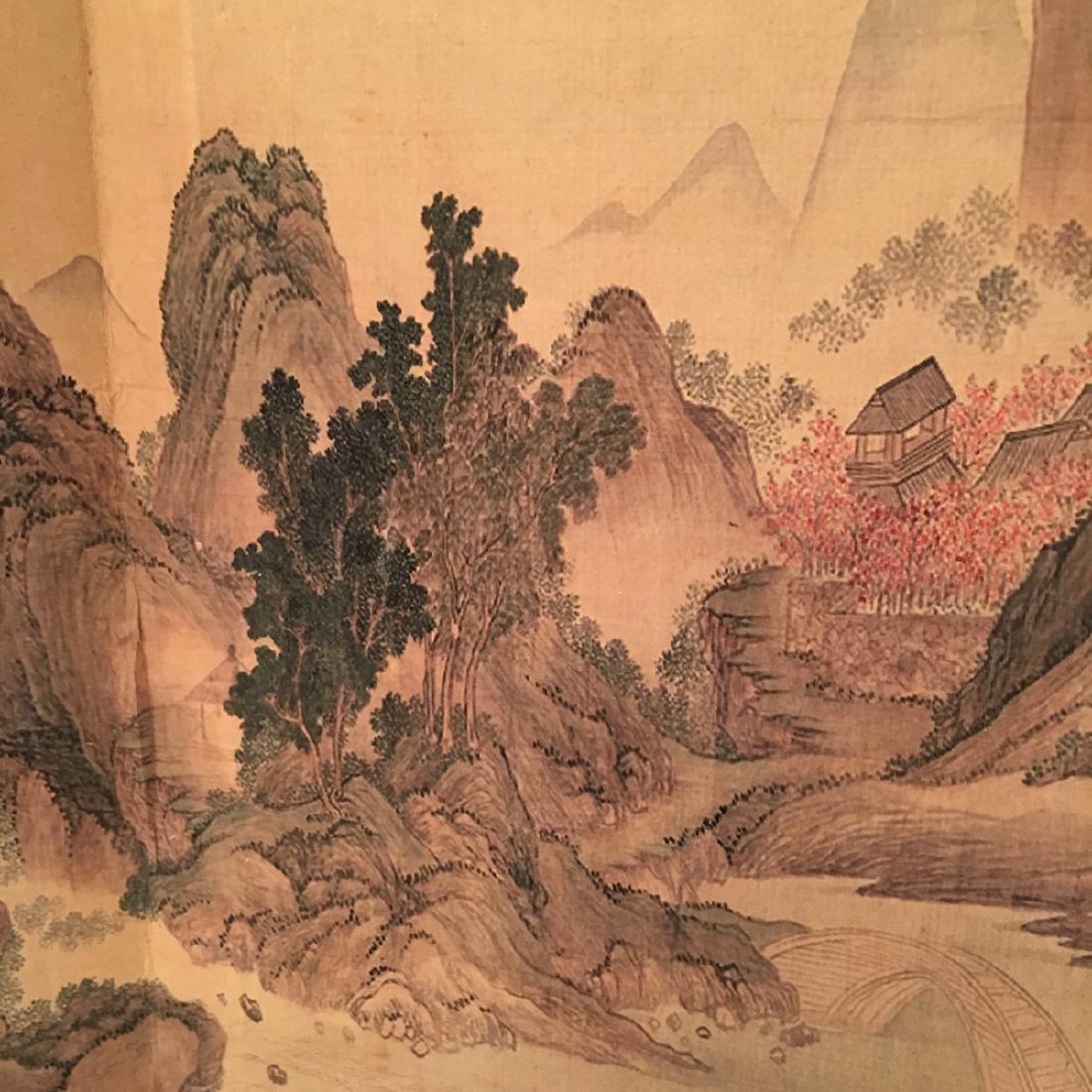 Chinese Folded Painting Album Of Hu Shan Chun Nan Tu - 10