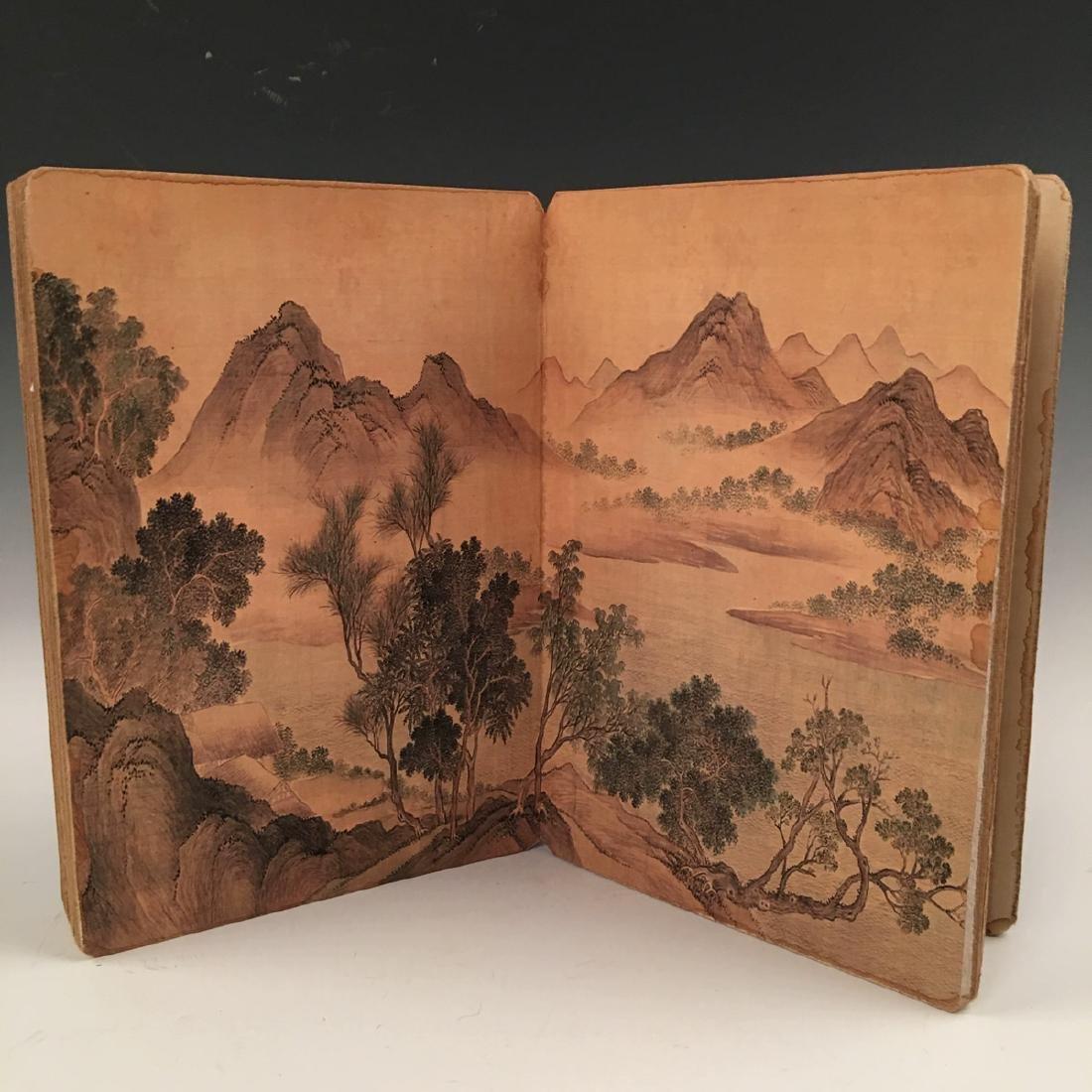 Chinese Folded Painting Album Of Hu Shan Chun Nan Tu - 3