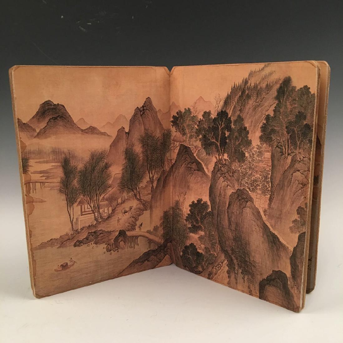 Chinese Folded Painting Album Of Hu Shan Chun Nan Tu - 4