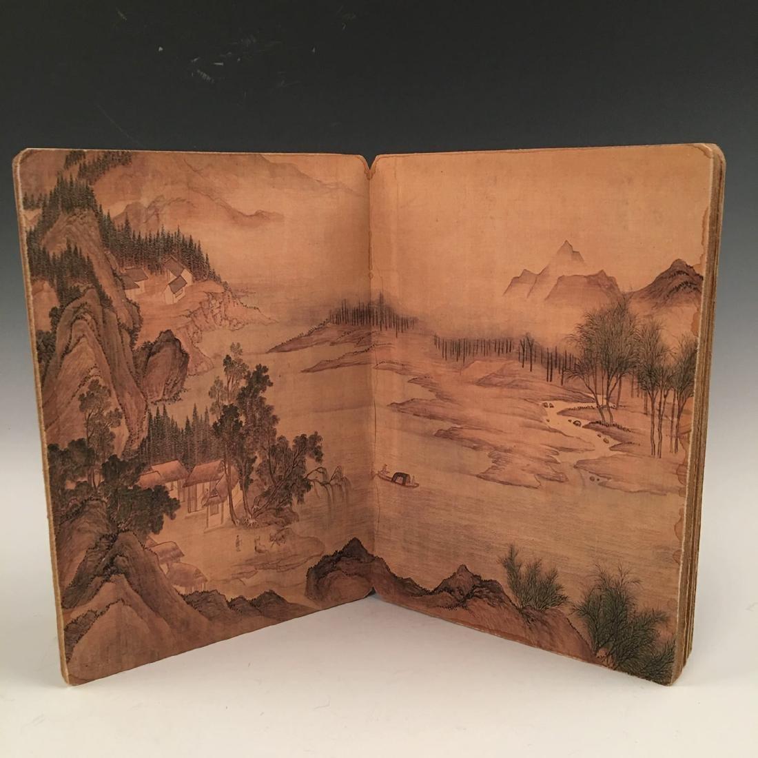 Chinese Folded Painting Album Of Hu Shan Chun Nan Tu - 5