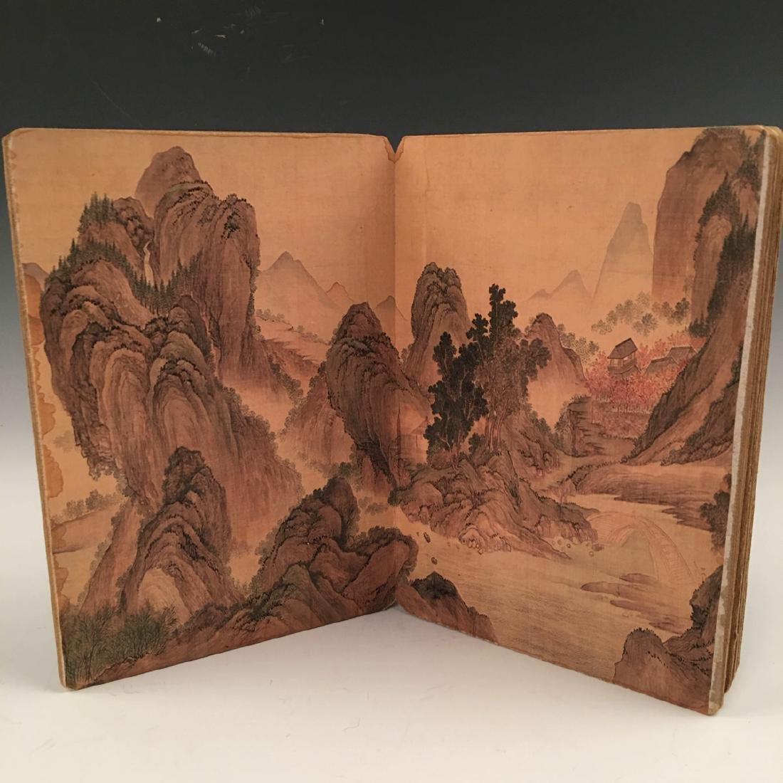 Chinese Folded Painting Album Of Hu Shan Chun Nan Tu - 6