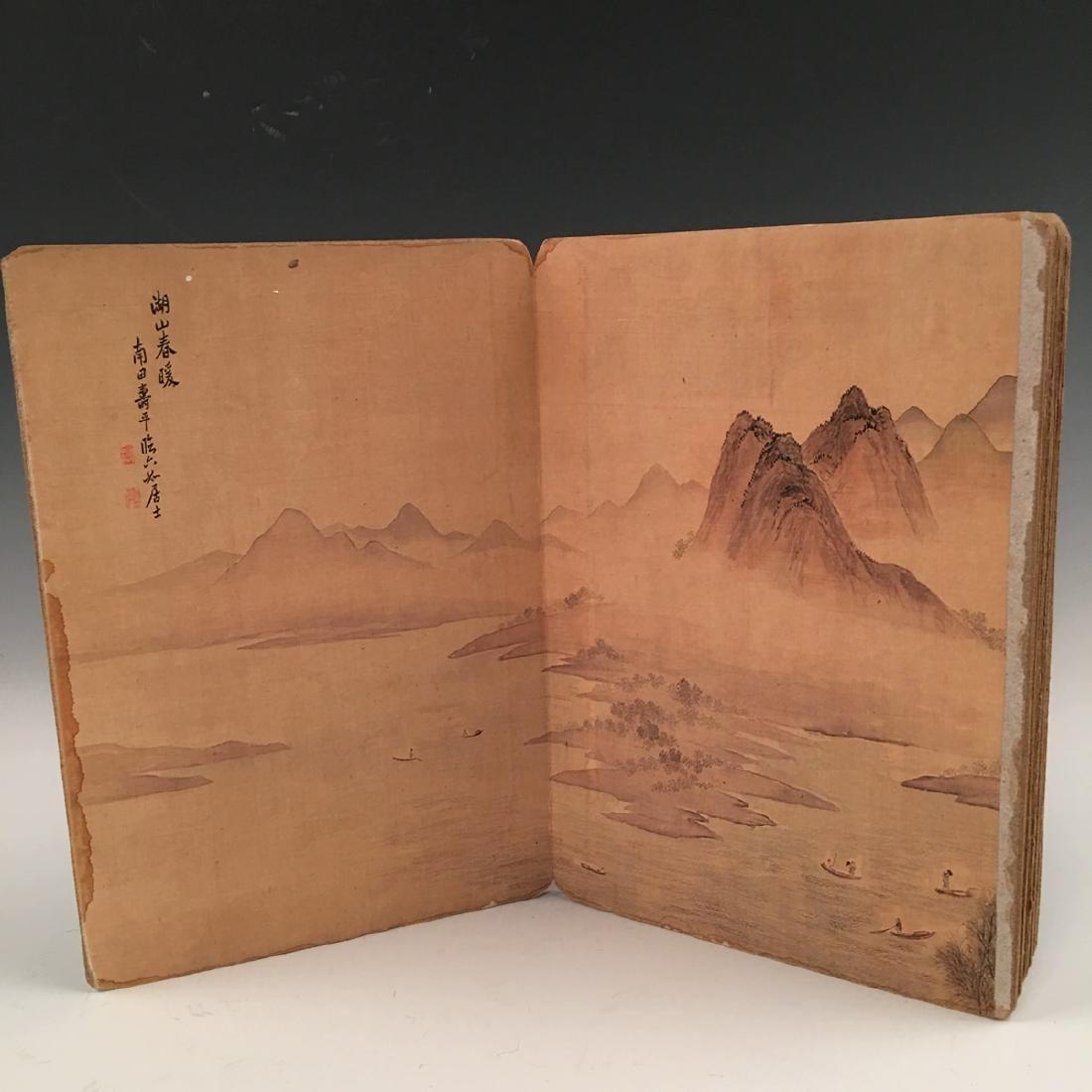 Chinese Folded Painting Album Of Hu Shan Chun Nan Tu - 7