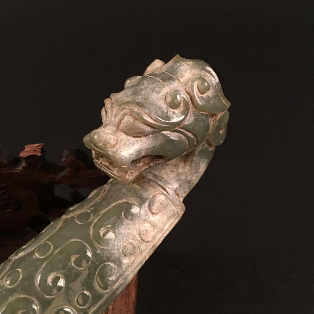 Chinese Archaic Jade Belt Buckle - 3