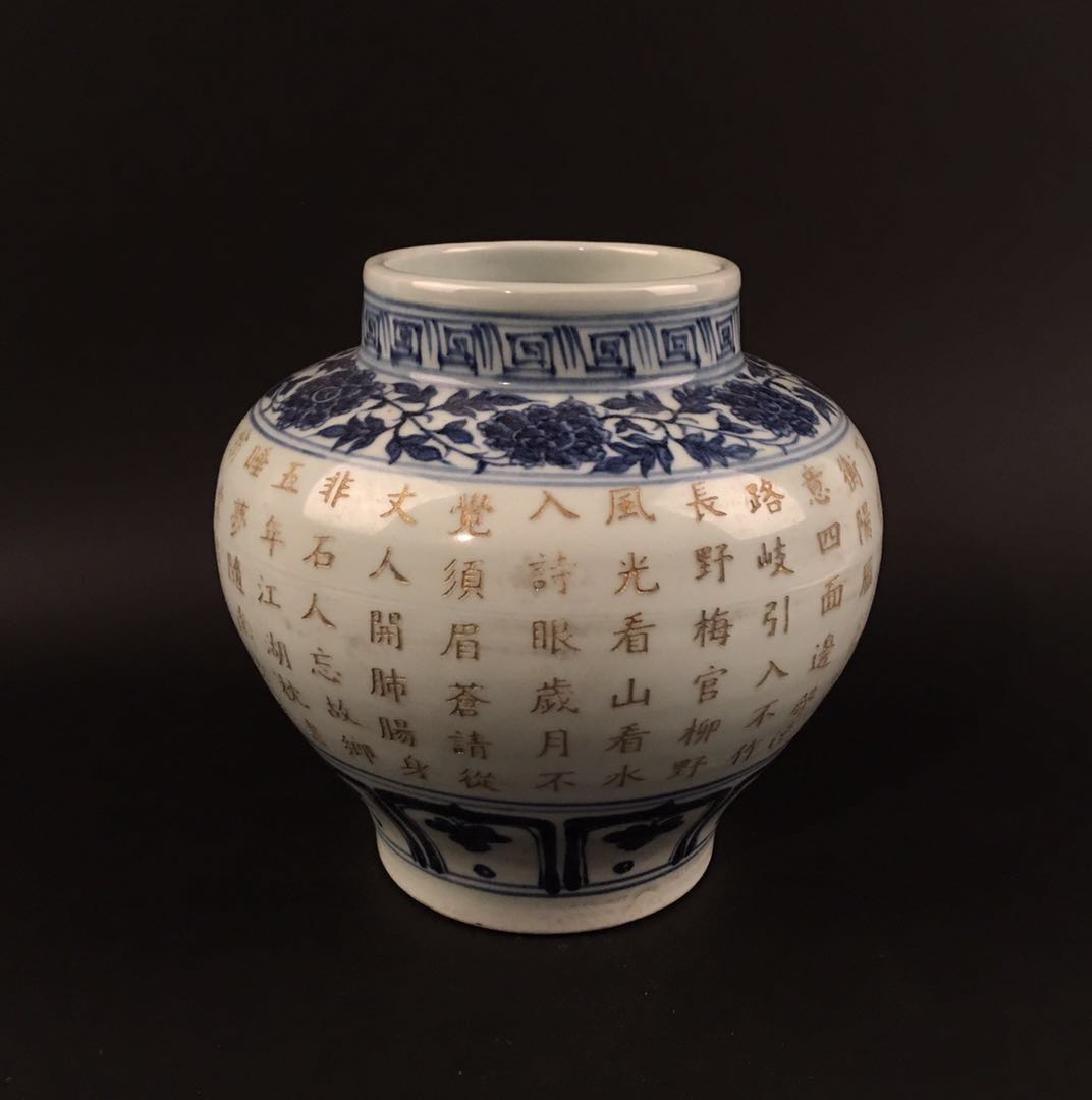 Chinese Blue-White Porcelain Jar