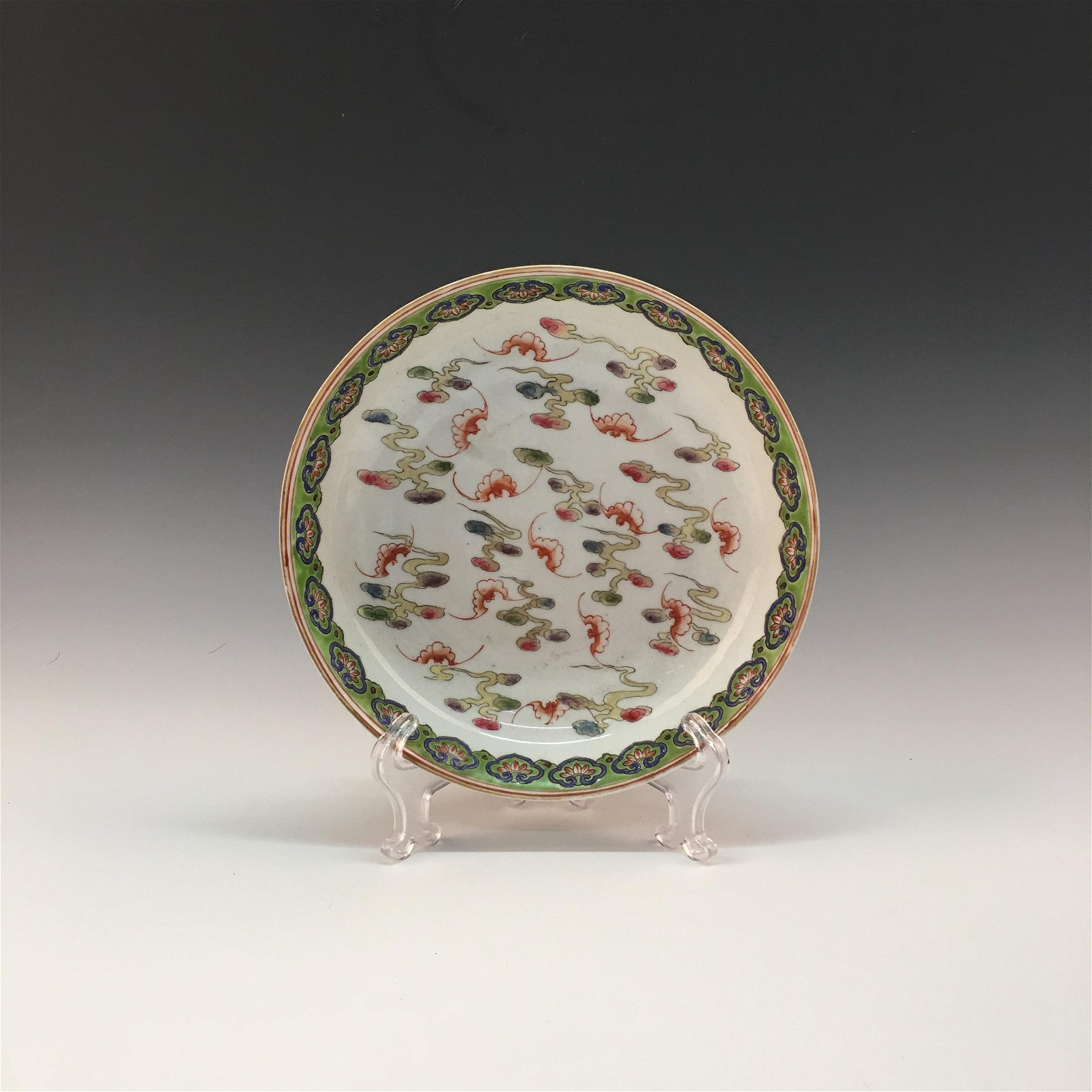 Chinese Famille Rose Plate, Guanxu Mark