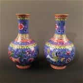 Pair Chinese Famille Rose Vase, Qianlong Mark