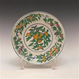 Chinese Doucai Plate, Chenghua Mark