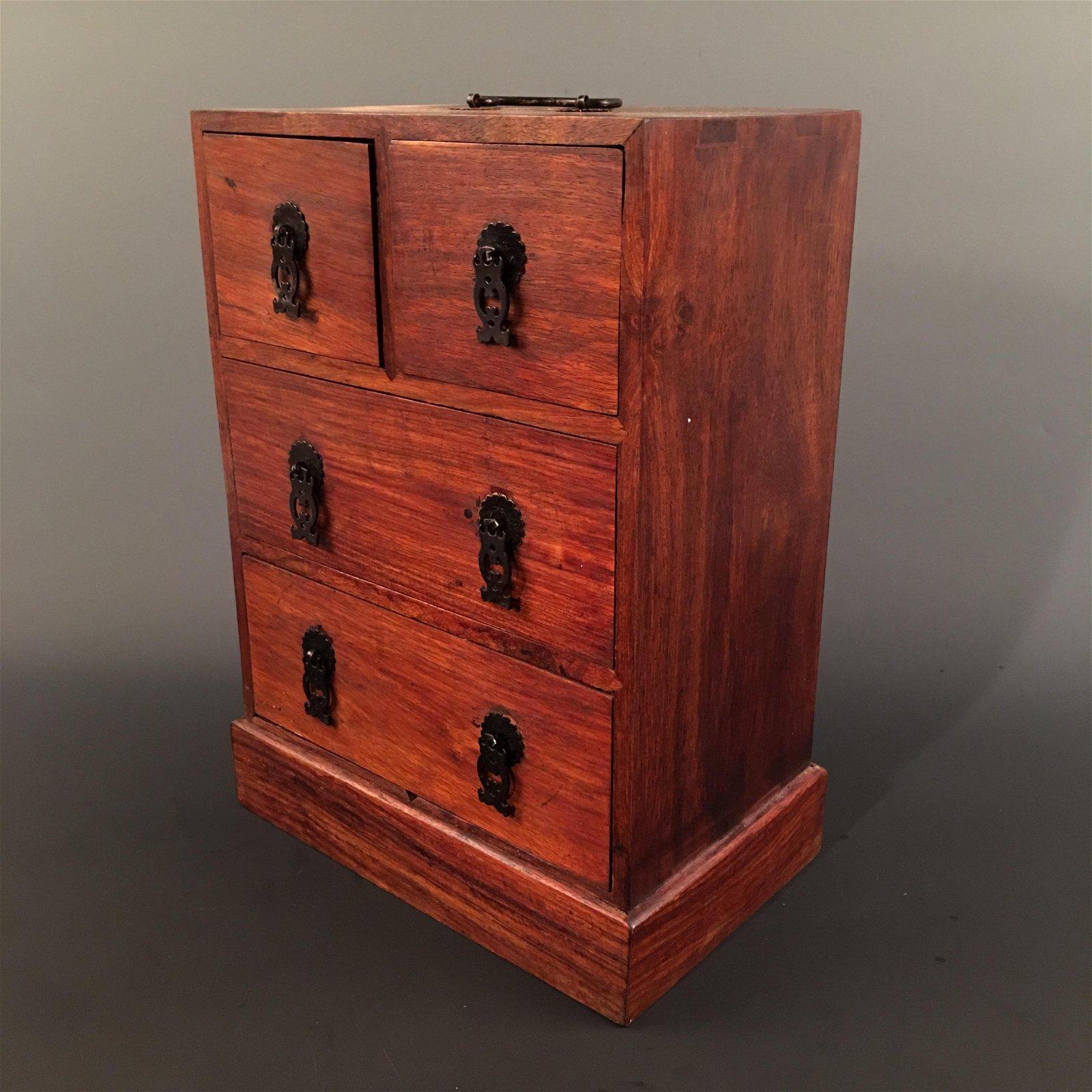 Chinese Hardwood Jewelry Box