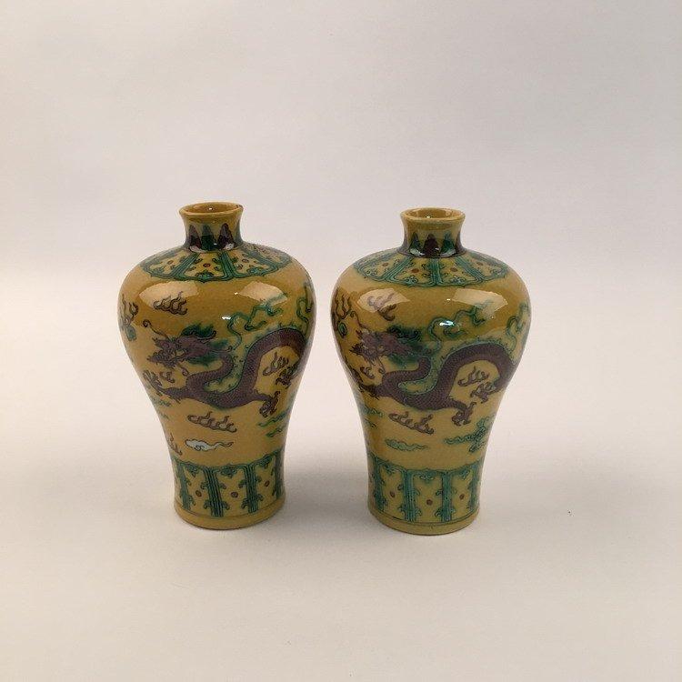 Kangxi Mark, Chinese Dragon Vase
