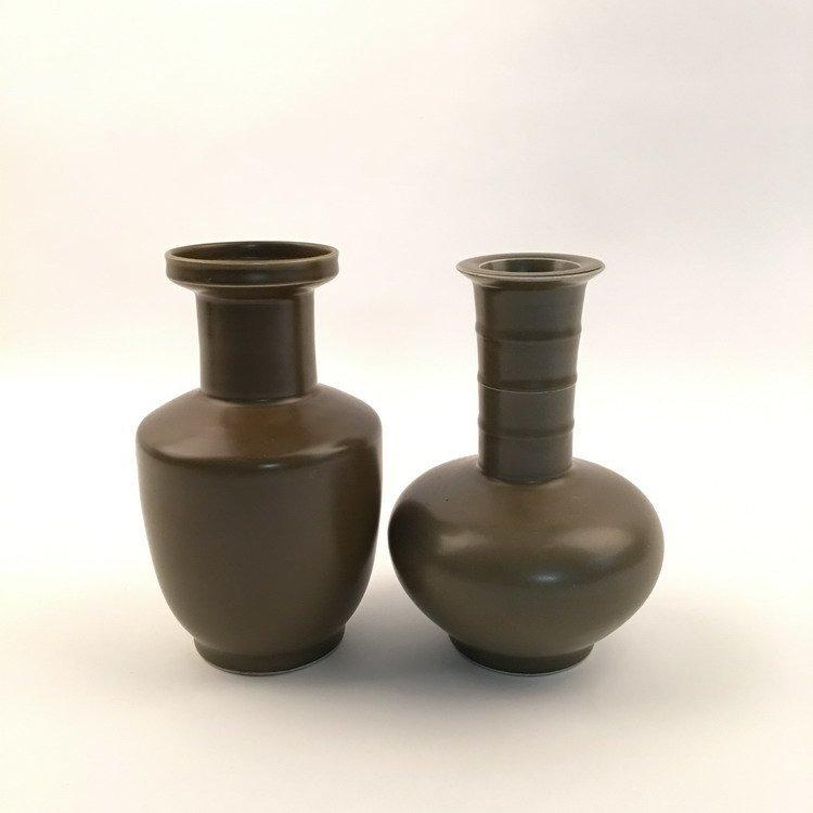 Chinese Tea Dust Glaze Vase