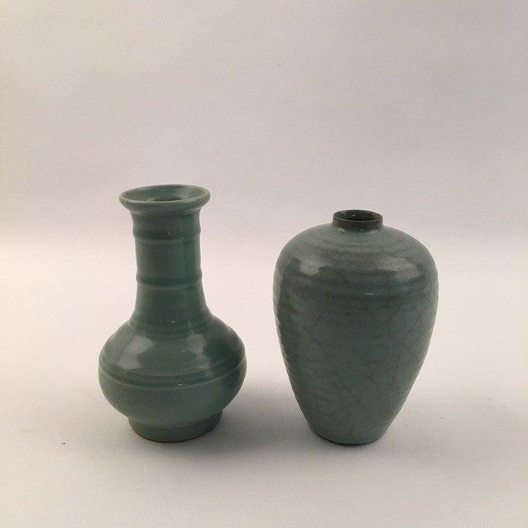 Pair Fine Song Style Celadon Vase