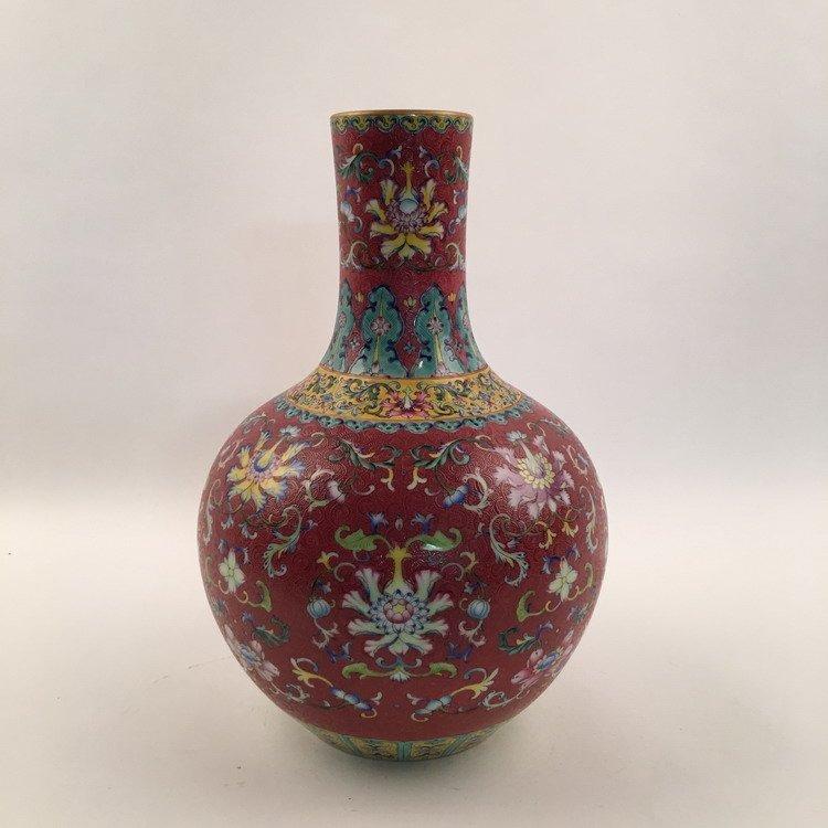 Fine Chinese Famille Rose Vase