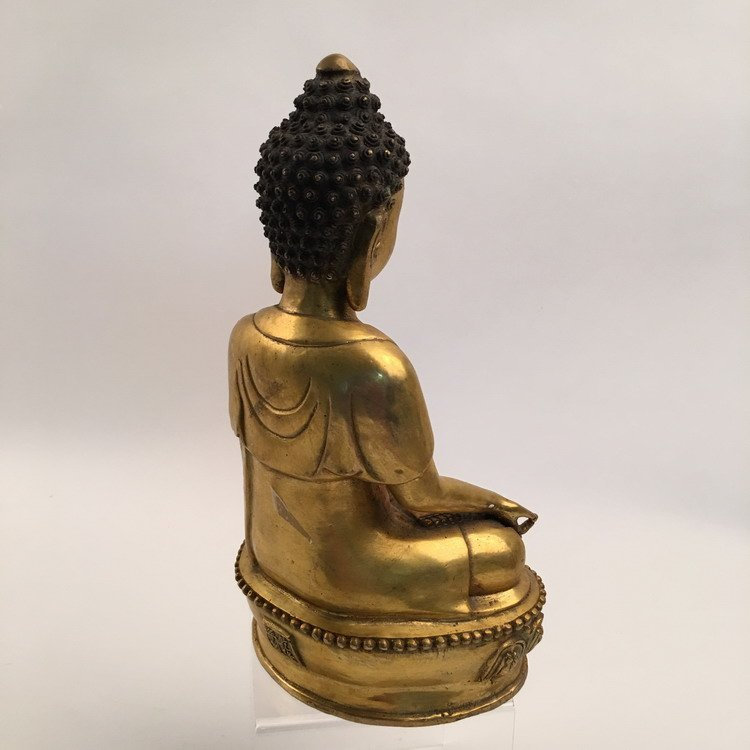 Chinese Gilt Bronze Buddha - 3