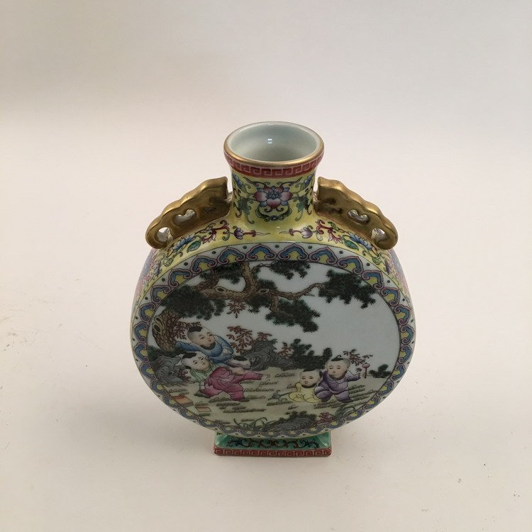 Fine Chinese Famille Rose Vase with Children Playing - 4