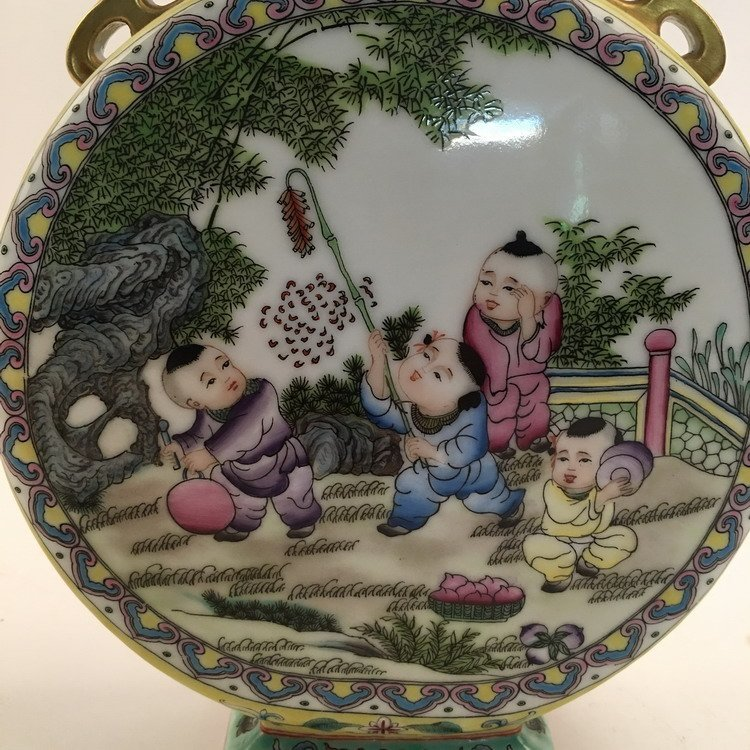 Fine Chinese Famille Rose Vase with Children Playing - 6