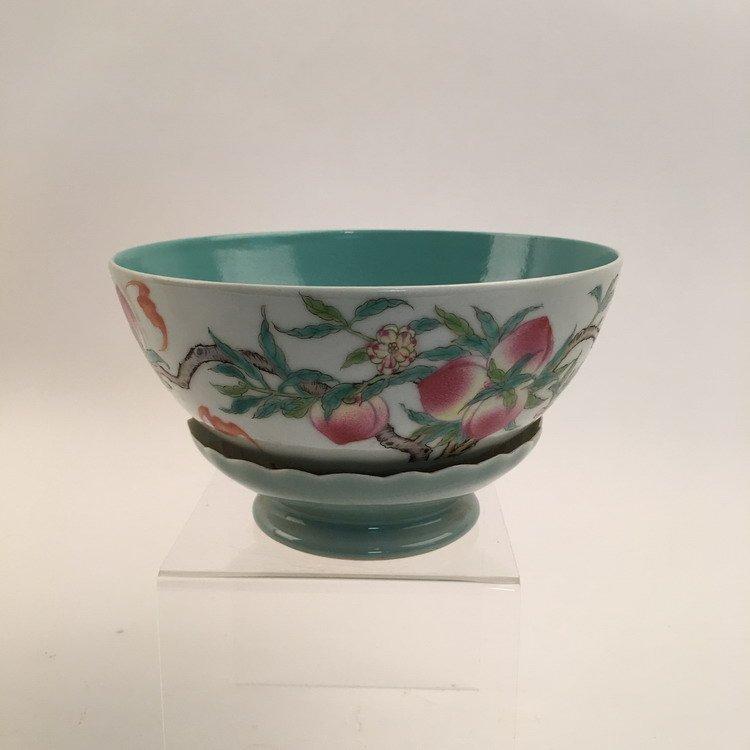 Chinese Famille Rose Lotus Base Bowl - 2