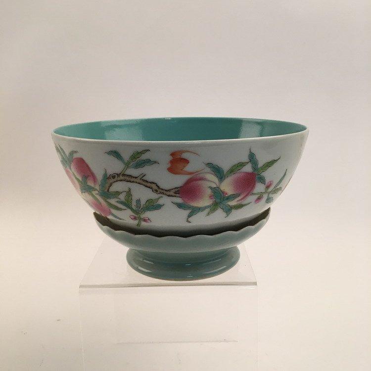 Chinese Famille Rose Lotus Base Bowl - 3