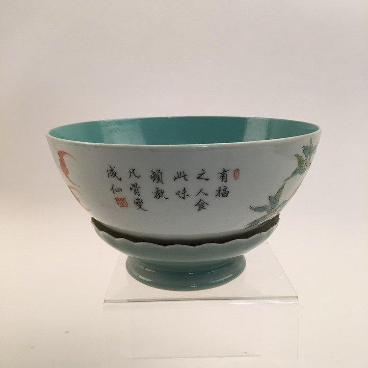 Chinese Famille Rose Lotus Base Bowl - 4