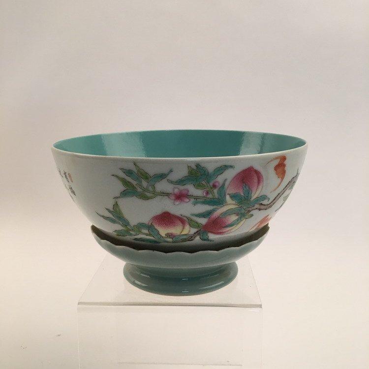 Chinese Famille Rose Lotus Base Bowl - 5