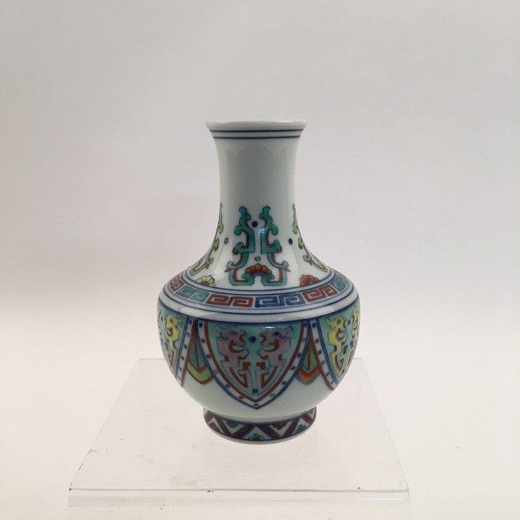 Yongzheng Mark.  Fine Chinese Doucai Vase