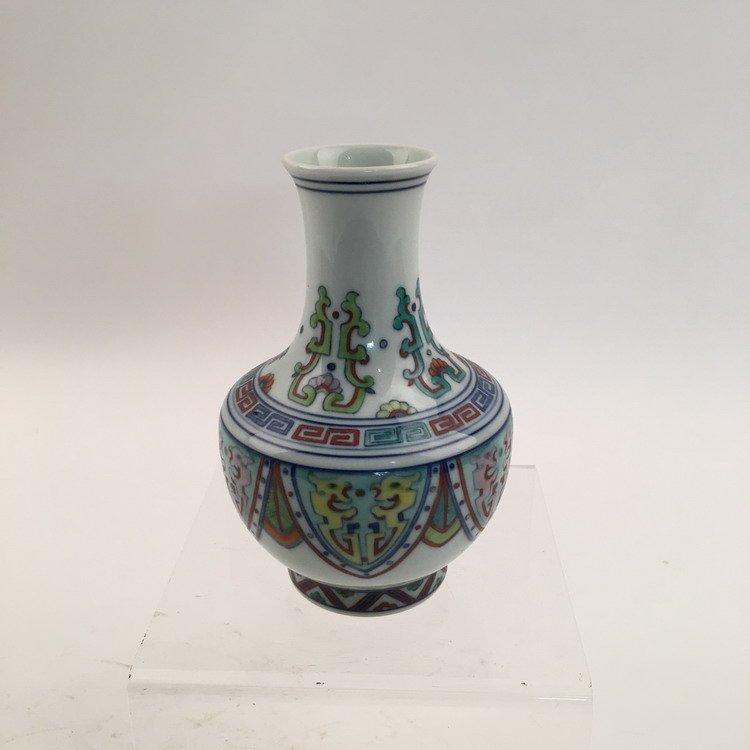 Yongzheng Mark.  Fine Chinese Doucai Vase - 2