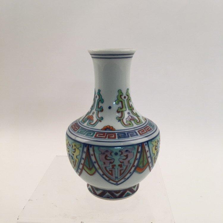 Yongzheng Mark.  Fine Chinese Doucai Vase - 3