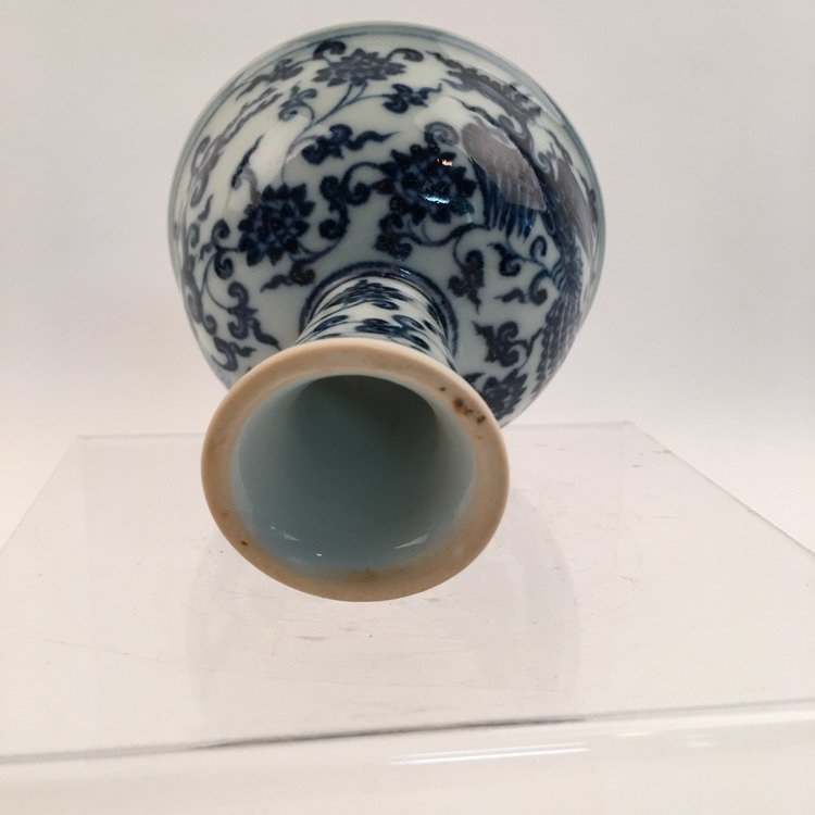 Chinese Blue and White Phonix Cup - 6