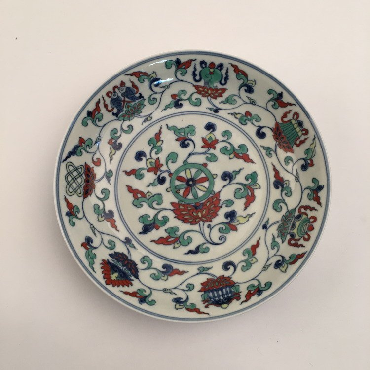Fine Chinese Doucai Plate