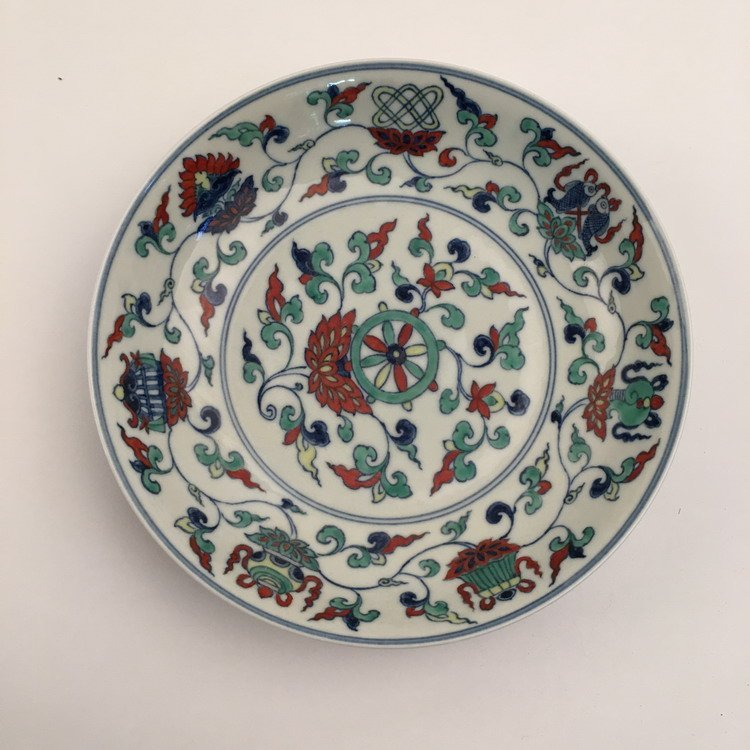 Fine Chinese Doucai Plate - 6