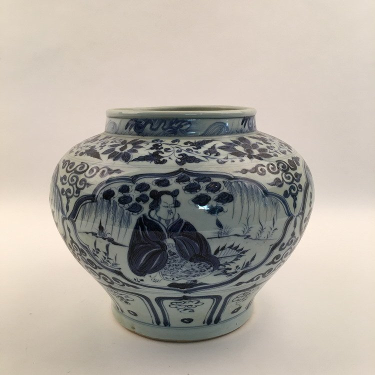 Fine Chinese Blue and Whit Jar