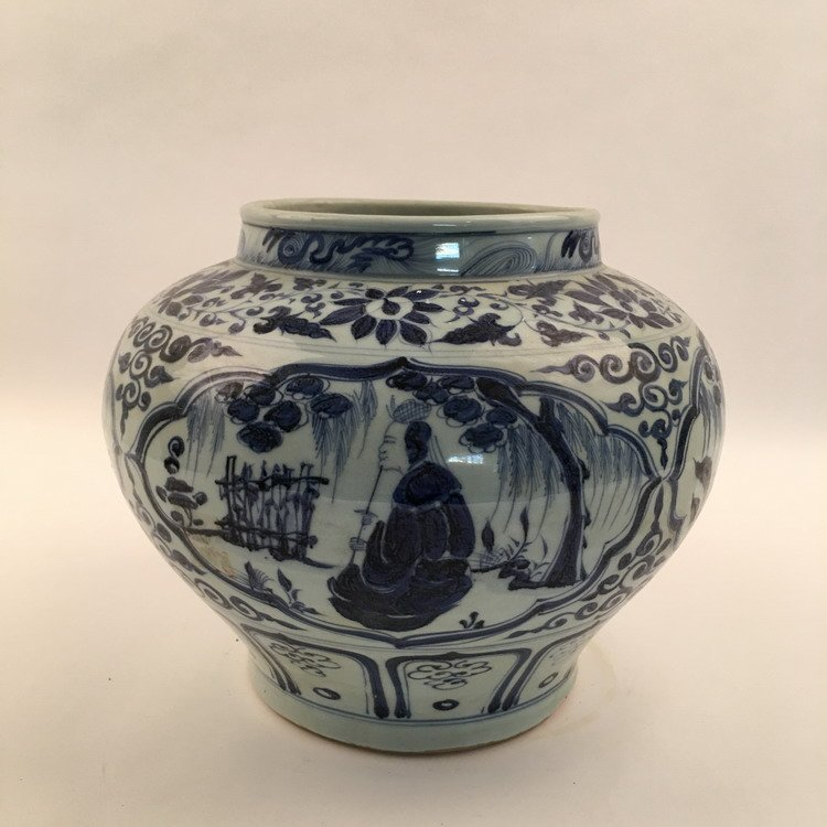 Fine Chinese Blue and Whit Jar - 3