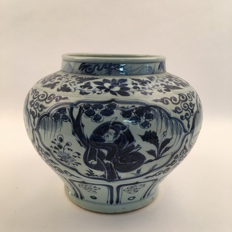 Fine Chinese Blue and Whit Jar - 5