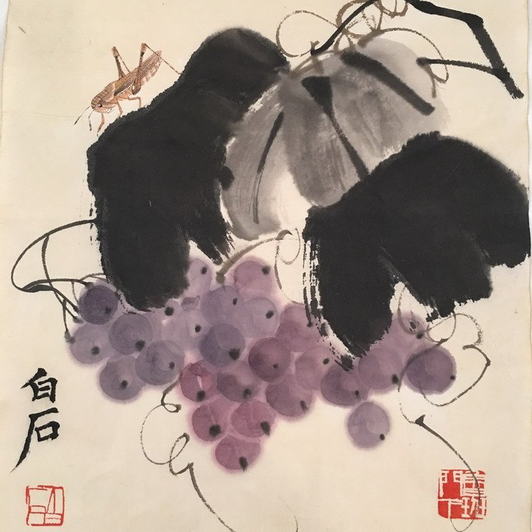 Chinese Watercolor Painting By BaiShi