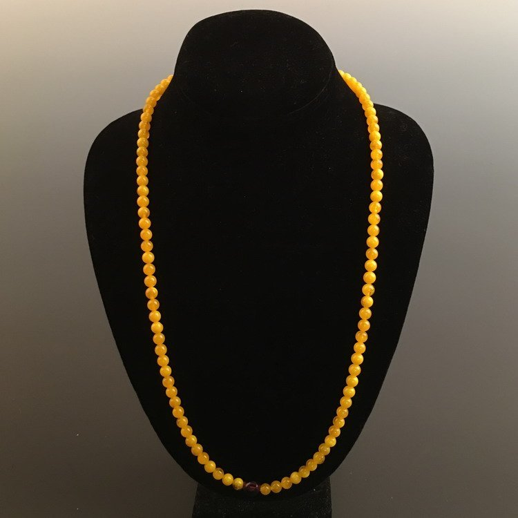 Honey Bee Amber Necklace