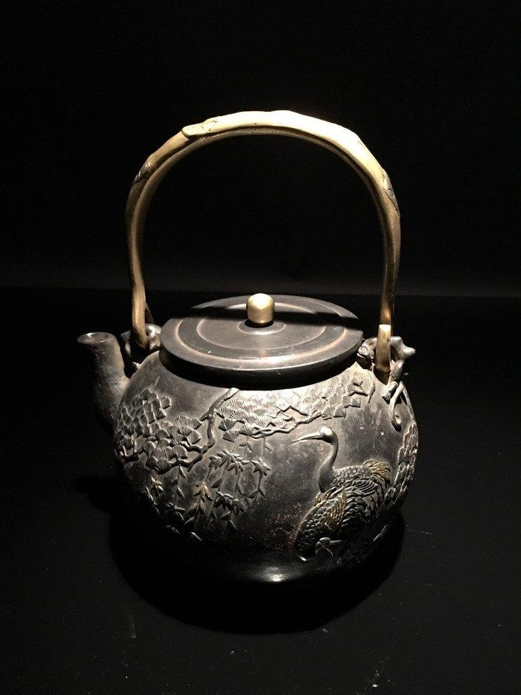 Fine Chinese Cast Iron Teapot