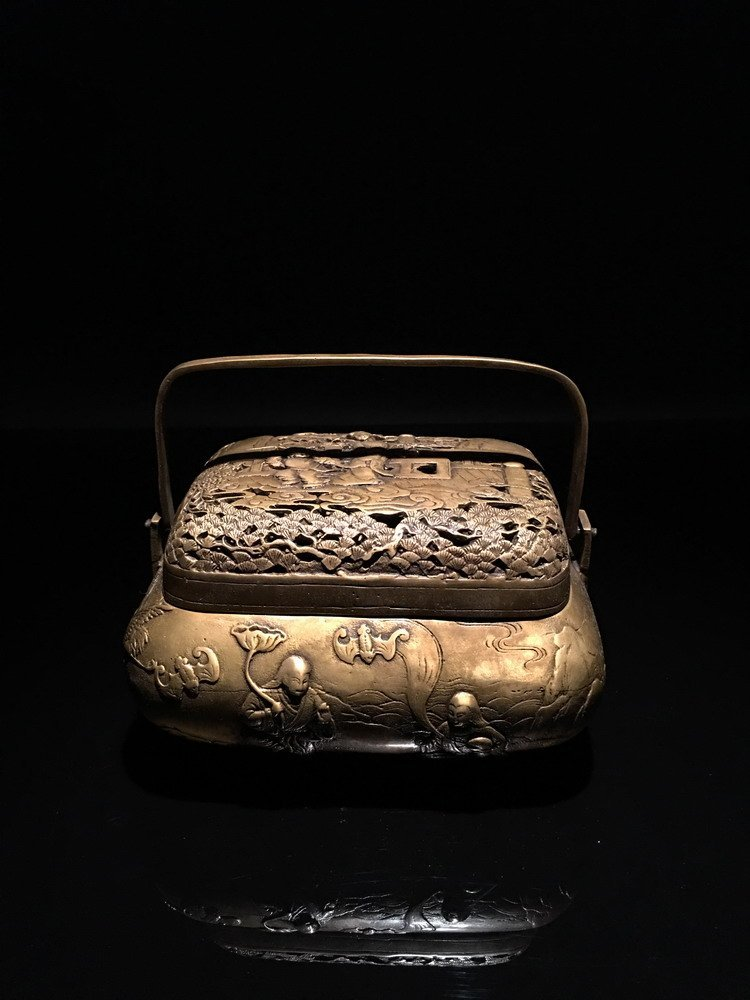 Fine Chinese Bronze Warm Hand Charcoal Stove with Xuan