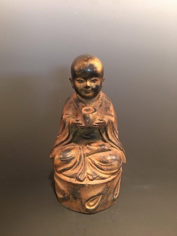 Chinese Bronze Monk