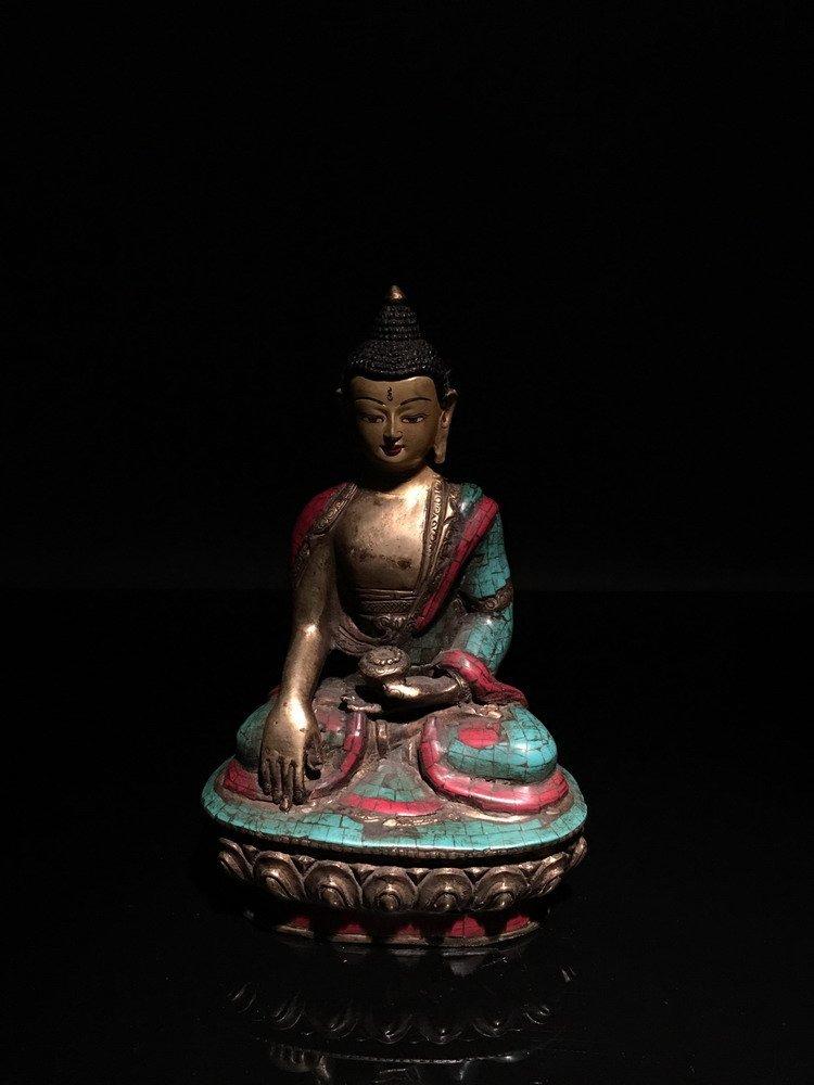 Chinese Gilt Bronze Tibetan Buddha
