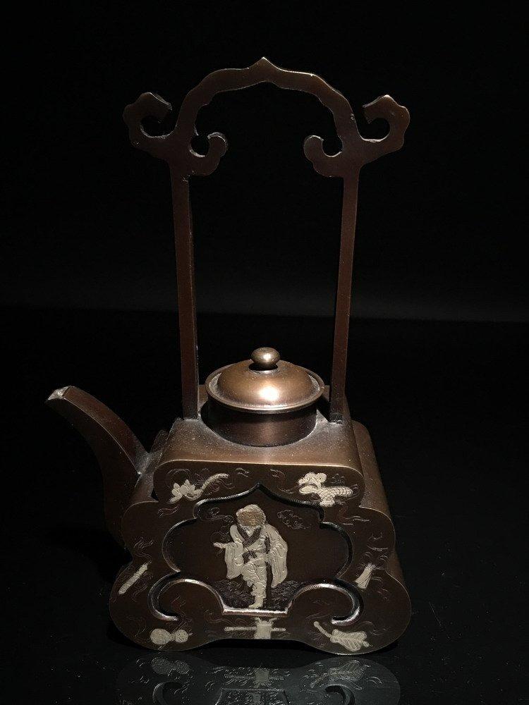 Chinese Bronze Teapot - 2